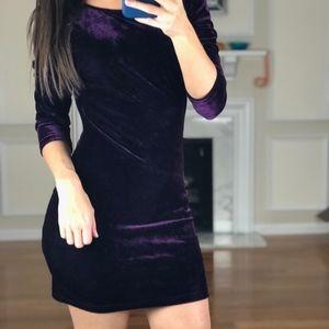 Tobi Half Sleeve Velvet Soft Sexy Dress